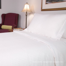 cheap price! 300TC Plain white hotel 100% cotton bed sheets in king size from china supplier
