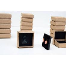 Boîte à bijoux avec logo personnalisé pour emballage de boucle d'oreille