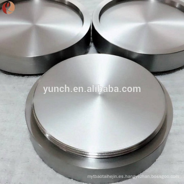 Blanco de pulverización de titanio o molibdeno (mo) para fotoelectrones y semiconductores / blanco de molibdeno