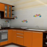 Inkjet Digital Yellow Stripe Candy Theme Ceramic Tile Wall Tile (JW663111 & 14)