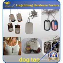 Etiqueta de perro militar al por mayor barata del acero inoxidable