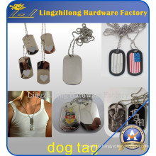Cheap Wholesale Stainless Steel Military Dog Tag