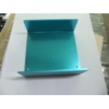 Caixa de alumínio com anodização azul
