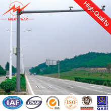 6m Q345 Galvanized Traffic Light Pole and CCTV Camera Pole
