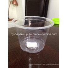 Plato de plástico personalizado de buena calidad con tapa