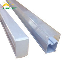 LED Clear Square Plastic Tube Lighting T5 Integrated