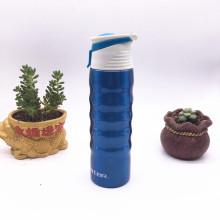 Bouteille d'eau de boisson de plein air en acier inoxydable de 750 ml avec couvercle