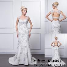 Atacado lindo estilo novo nupcial imagem real imagem real vestido de noite de casamento elegante liso na África do Sul