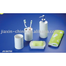Hotel porcelain 4pcs bathroom set JX-SA702
