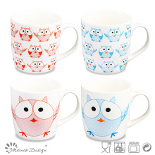 Owl Design Decal Ceramic New Bone China Mug