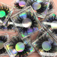 100% Handmade Eyelashes Wholesale Custom Packaging 3D 5D 25mm Fur Mink Strip Eyelashes