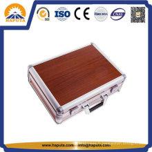 Housse de portable professionnel couleur rouge en aluminium (HL-2003)