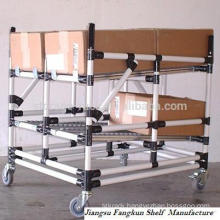 Flexible Bar-type Mobile Shelves /Folding Pipe Shelves