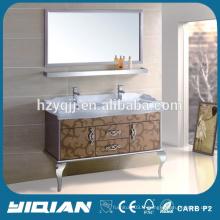 Cabinet de bassin en céramique à comptoir en marbre Meubles de salle de bain en acier inoxydable de haute qualité