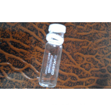 Clear Tubuler Screwed Glass Bottle with Safety Ring Cap