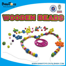 Wooden bead necklace girls toys