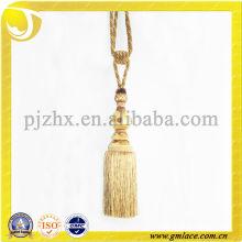 handmade golden silk tassel tieback