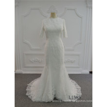 Guangzhou Mermaid Wedding Dress with Prices Bridal Lace Wedding Dress Muslim