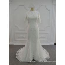 Guangzhou sereia vestido de noiva com preços de casamento vestido de noiva de renda muçulmano