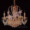 empire 9 Lumières petit lustre en cristal or pendentif lumière LT-70055