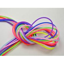 Cordas de borracha de silicone colorido