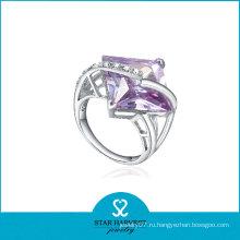 Грановитой квадратной формы Lucky Stone палец кольцо