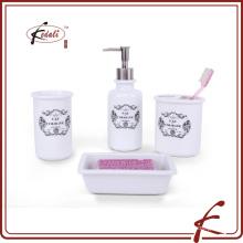 Nuevos productos calientes para 2015 accesorio de baño de cerámica blanca