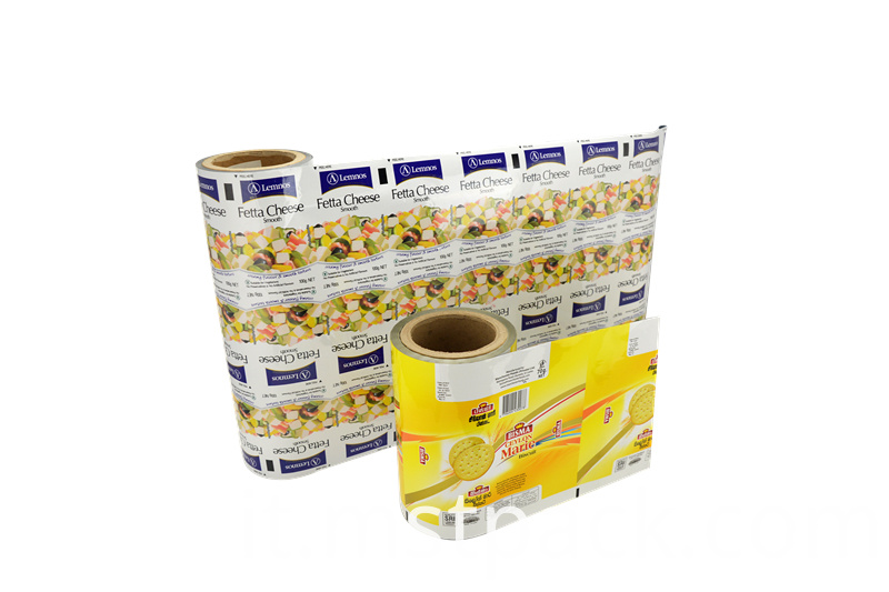 Biscuits Paper Roll Film with aluminum