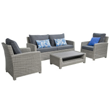 Jardim vime Lounge sofá conjunto mobília ao ar livre do Rattan