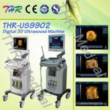 Equipo de diagnóstico de ultrasonido completamente digital con carro
