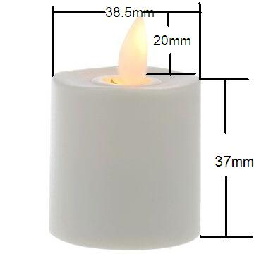Moving Wick Flameless electric luminara rechargeable candle for wedding