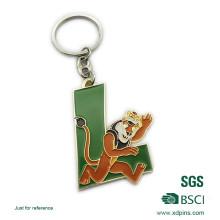 Porte-clés en émail avec logo en forme de lettre en métal sur mesure