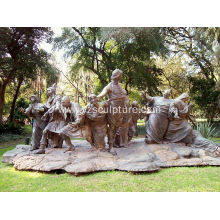 Bronze Man and Woman Statue for Garden Decoration