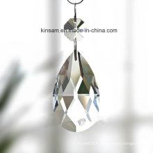 Pièce claire de lustre en verre de cristal de goutte d'eau