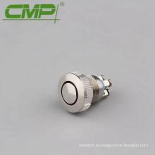 Terminal de tornillo de 22 mm normalmente abierto, interruptor pulsador