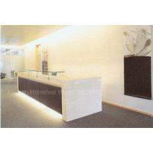 Bureau de réception élégant en couleur blanc brillant haute qualité (HF-E405)