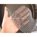 Stainless Steel Chain Mail Scrubber For Cast Iron Cookware