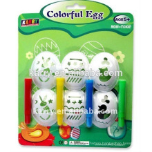 promotion toy new product DIY paint egg kit kid toy