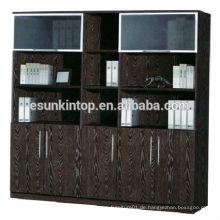 Büro gebrauchte Bücherregal zum Verkauf, Melamin Polsterung dunkel Eiche Farbe Finishing (KB845-2)