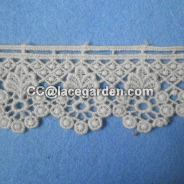 Water Soluble Lace For Scarf Decorated