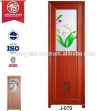 Portes en plastique personnalisées à bon marché pour toilette ou salle de bain ou cuisine