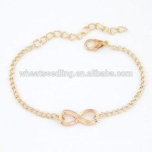 Yiwu superior venta atractivo 8 en forma de infinito mujeres de cobre de la pulsera