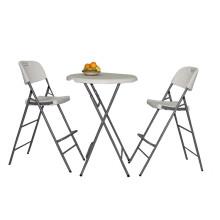 HDPE Plastikheiße Verkaufs-Qualitäts-fördernde preiswerte Cocktail-runde Hotel-Kaffee-Stab-stapelbare einfache Speicher-faltende Tabelle