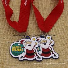 Cadeaux promotionnels Médailles de Noël personnalisées à vendre