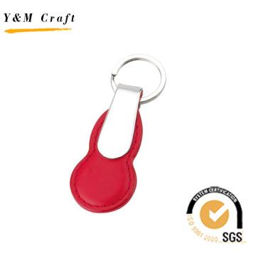 Promoção do carro de marca de impressão logotipo cor do metal chaveiro de couro (y02550)