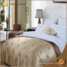 Moderno elegante branco 300tc atacado lençol de cama do hotel