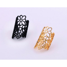 High Quality Hollow Gold Ring Alloy Metal Ring