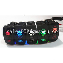 Sealed Rocker Switch with Bumper Light Bar Suited for Marine, off -Road, 4X4 ATV and Motorcycle