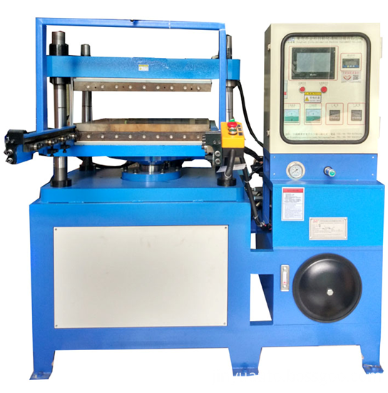 Hydraulic flat-bed embossing machine