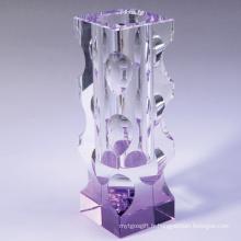 Vase en cristal, vase en verre pour décoration maison